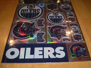 EDMONTON OILERS NHL STICKERS GLASSES AND DIE CAST ZAMBONI