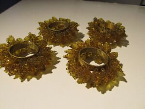 Brand new set of 4 decorative napkin holding rings.