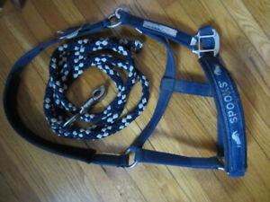 Spooks Equestrian Cob Halter and Lead