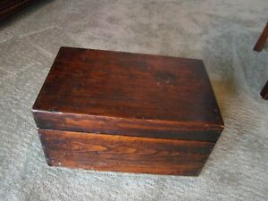 Solid wood antique box