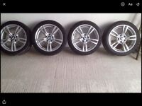 18 inch BMW alloy wheels & tyres