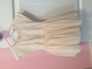 Taylor Joelle cream dress with lace and tutu skirt