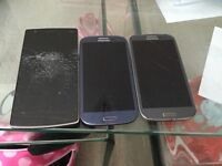 One plus one mobile phone and 2 Samsung Galaxy s3 all faulty