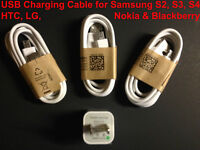USB Charging Cable Samsung S2, S3, S4, HTC, LG,Nokia, Blackberry
