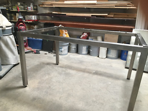 Stainless Table Top Frame with Legs