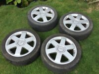 """Audi 17"""" Alloy Wheels And Tyres"""