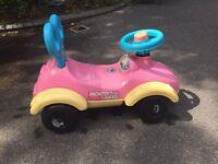 Pink sit on toddler car