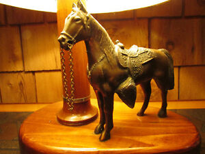 Vintage 1950s Metal Western Horse Lamp Kitchener / Waterloo Kitchener Area image 3