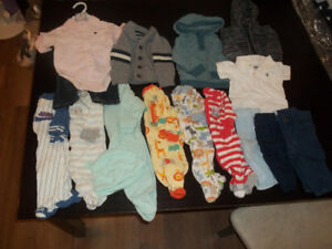 Boys lot of clothing 3-6 months