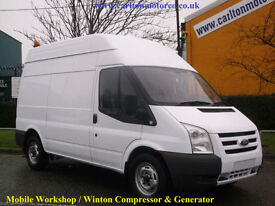 2009/09 Ford Transit 140 T350m High Roof Mobile Workshop Compressor&Generator