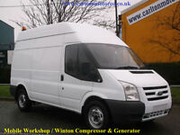 2009/09 Ford Transit 140 T350m High Roof Mobile Workshop Compressor&Generator