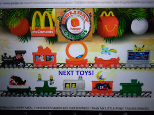 McDonalds Holiday Express Toys Complete Set of 10