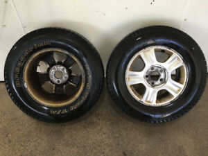 4 BF Goodrich Long Trail Tires on Rims