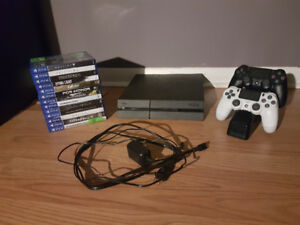 PlayStation 4 (500GB) with Accessories and Games