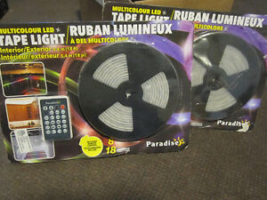 Paradise Indoor Outdoor LED RGB Tape Kit - like new, no box $35