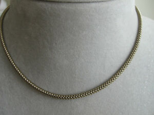UNIQUE CHOKER-STYLE 14-INCH GOLDTONE ROUND-CHAIN NECKLACE