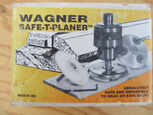 Wagner Drill Press Rotary Planer with sharpener in original box.