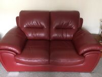 Harvey's red leather sofas