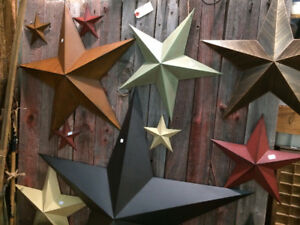 Barn Stars - Rustic Cottage Decor - www.therusticrose.ca