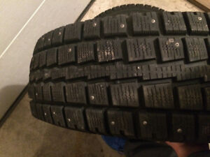 Barely used truck studded tires