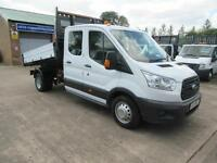 2015 New Shape Ford Transit 350 125 Bhp 7 Seats Double Crew Cab Dropside Tipper