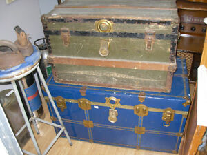 Vintage/Antique Flat-Top Trunks
