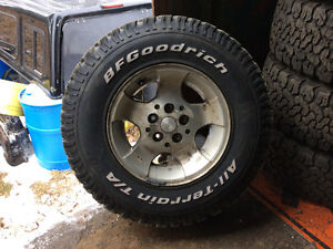Bfg all terrains on jeep rims