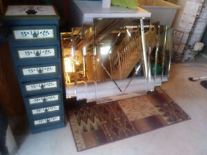 Moving sale: mirror and shelving unit
