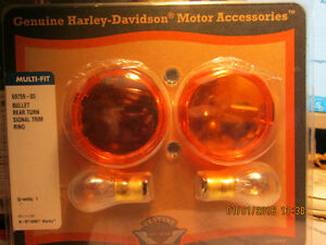 GENUINE HARLEY DAVIDSON  BULLET REAR TURM SIGNAL TRIM  RING!!