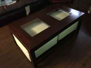 Coffee table with storage stools