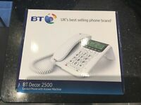 BT decor 2500 phone with answer machine