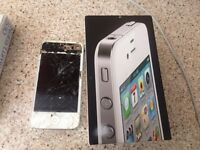 Apple iPhone 4 white for repairs