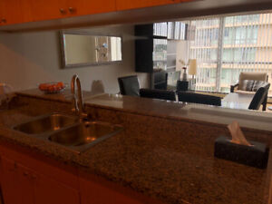 Marinaside crescent 1 br apartment , furnished with water views