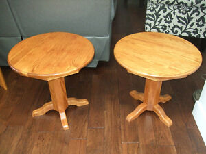 Solid Oak tables and sofa table