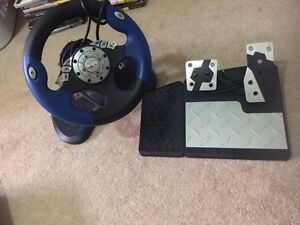 Intec steering wheel and pedals  Cambridge Kitchener Area image 1