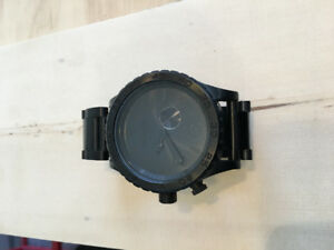 Nixon 51-30 All Black Stainless Steel