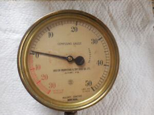 Jauge pression antique - Compound Gauge