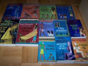 12 PAUL DOHERTY softcover books ( 6 are large softcovers)