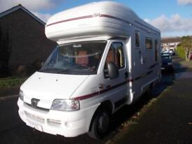 Auto Sleeper Ravenna 4 Berth Motorhome 2.8 Turbo Diesel Reversing Camera