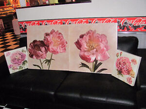 Peony Florals on canvas Kitchener / Waterloo Kitchener Area image 1