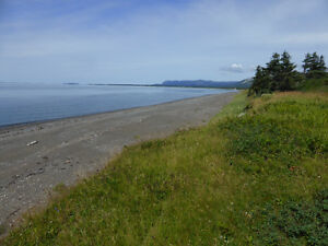 Oceanfront Property for Sale at Smelt Brook on Port au Port Bay.