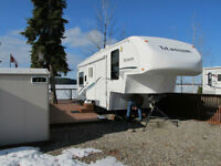 Cluculz Lake View Lot with 33' Titanium Trailer