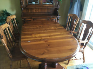 Solid maple table + 4 chairs  $ 450.00