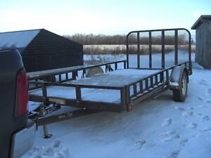 2010 7 FT X 14 FT ATV  PL TRAILER---SIDE AND BACK RAMPS