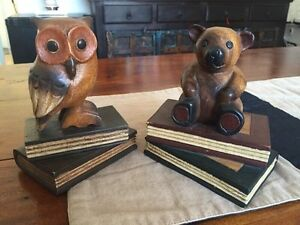 Gorgeous hand-carved wood book holders for your nursery!