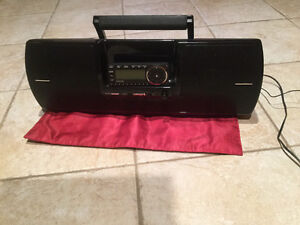 Sirius XM Universal Boombox with Radio & Attachments