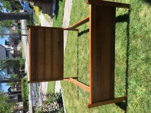 Antique Solid Oak Double Bed Frame
