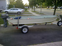 14 foot Star Craft Super Star with Yamaha 9.9 HP and Trailer