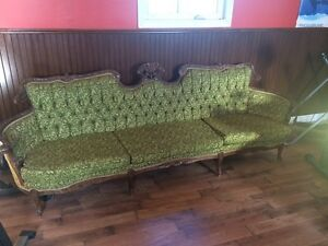 For sale beautiful antique 1800's 9' sofa and chair