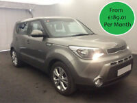 £189.01 PER MONTH 2014 KIA SOUL 1.6 GDi CONNECT PLUS PETROL 5 DOOR MANUAL